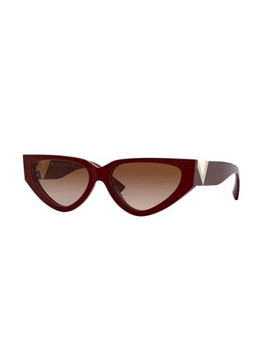 Valentino Valentino 4063 513913 54 Ekartman Kadın Güneş Gözlüğü Bordo